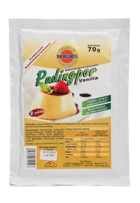 Dia-Wellness Vanília ízű puding por 70 g