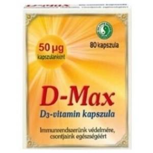 Dr. Chen D-max D3-vitamin kapszula, 80 db
