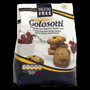 NutriFree gluténmentes Golosotti keksz joghurttal és erdei gyümölccsel, 400 g
