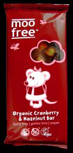 Moo free áfonyás-mogyorós csokoládé, 100 g