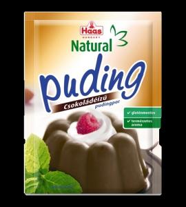 Haas pudingpor csokoládé natural, 44 g
