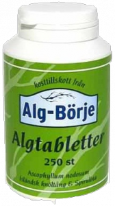 Alg börje Ascophyllum nodosum, Fucus Vesiculosus és Spirulina alga tabletta, 250 db