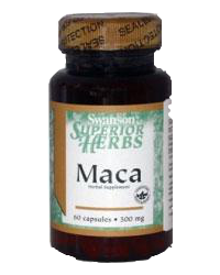 Swanson Maca gyökér kivonat kapszula 500 mg, 60 db