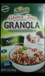 Granola müzli mogyorós, gluténmentes, 340 g