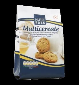 NutriFree gluténmentes Multicereale Multigabonapelyhes keksz, 400 g