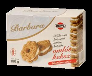 Barbara gluténmentes keksz kókuszos, 180 g