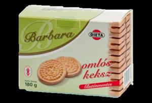 Barbara gluténmentes keksz omlós, 180 g