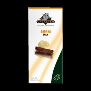 Cavalier banános tejcsokoládé édesítőszerrel, 85 g
