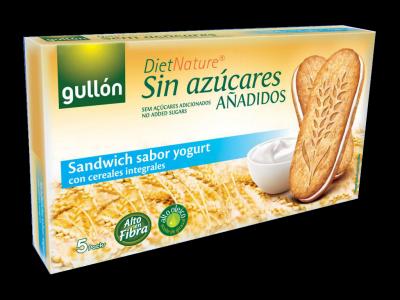Gullon diabetikus joghurtos szendvicskeksz, 5 db
