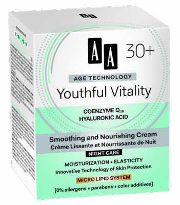 AA AT Youthful Vitality 30+ Éjszakai Arckrém