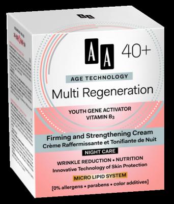 AA AT Multi Regeneration 40+ Éjszakai Arckrém