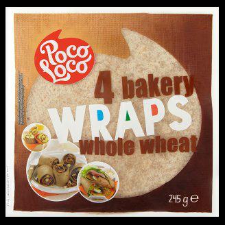 Poco Loco teljes kiőrlésű tortilla, 4 szelet, 245 g