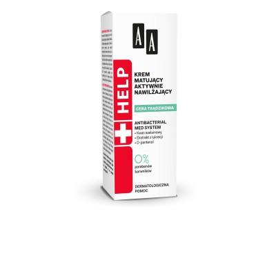 AA Help ACNE SKIN - Aktív hidratáló, mattító hatású nappali arckrém