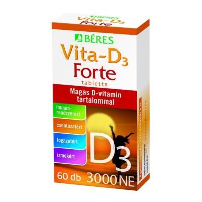 Béres Vita-D3 tabletta 3000NE, 60 db